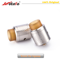 100% Original WOTOFO The Vaporous capacity Dual coil & Big Drip Tip RDA Atomizer Electronic Cigarettes Tank Vape vs Medusa Rdta