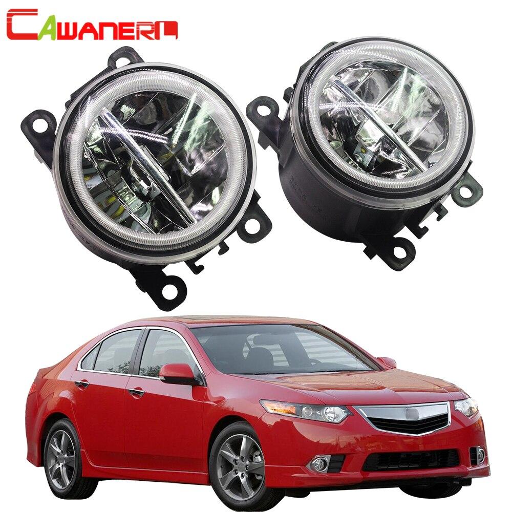 Cawanerl 2 X voiture style LED ampoule H11 feu de brouillard + Angel Eye DRL feux de jour 12 V pour Acura TSX 2011 2012 2013 2014