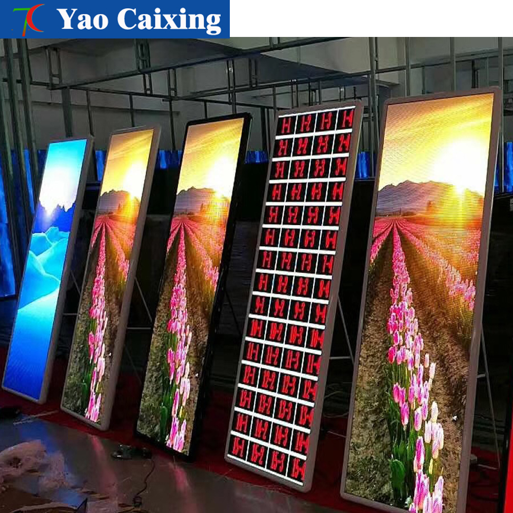 Indoor Poster Video Full Color LED Display,Super Thin Color Poster Advertising Machine