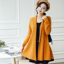 2017 Moda Mulheres Suéter de Cashmere Cardigan Sweater Feminino Ponto Aberto Casaco de Malha Camisola Magro Plus Size 100