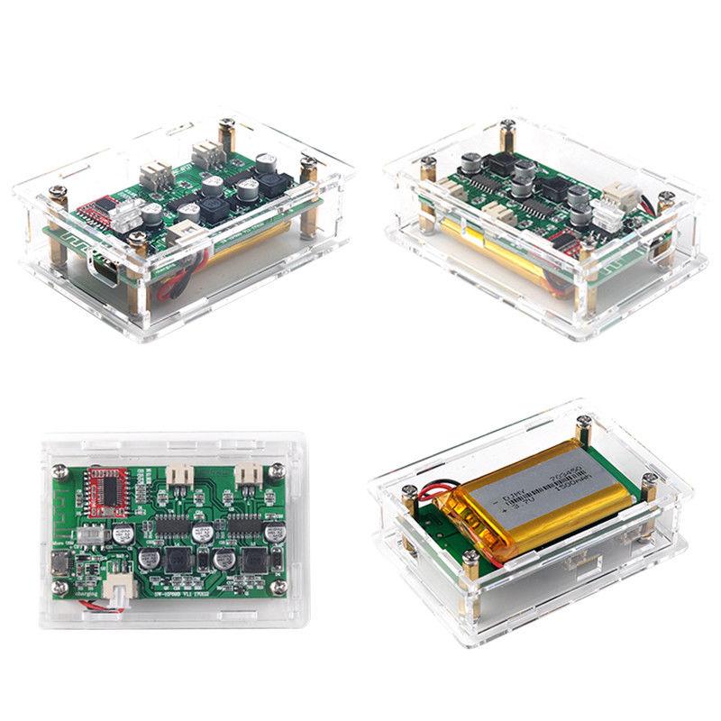 Tragbare Mini Bluetooth 4,0 Audio Power Verstärker Stereo Amp Bord + Fall 6 watt * 2 5 v