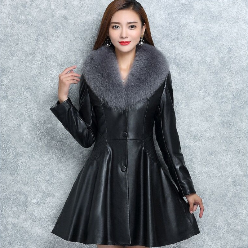 New Winter Womens Down Jacket High Imitation Fur Leather Overcoats Maternity Winter Clothing Pregnancy Jacket Warm Clothing Coats