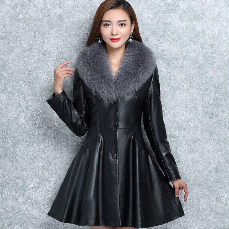 Heb Een Onderzoekende Geest Nieuwe Winter Vrouwen Donsjack Hoge Imitatie Bont Lederen Plus Size Overjassen Moederschap Kleding Zwangerschap Jas Warme Kleding