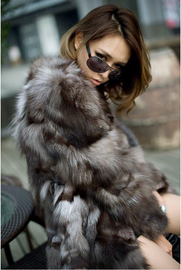 Libre Naturel Manteau Silver Véritable D'hiver Fox Qualité De Réel Nouveau Femmes Veste Mode Shiping Longue Fourrure aFx7a