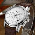 Guanqin marca moda casual hombres del reloj de cuarzo cronógrafo vida impermeable multifunción relojes de pulsera de negocio de gran promoción