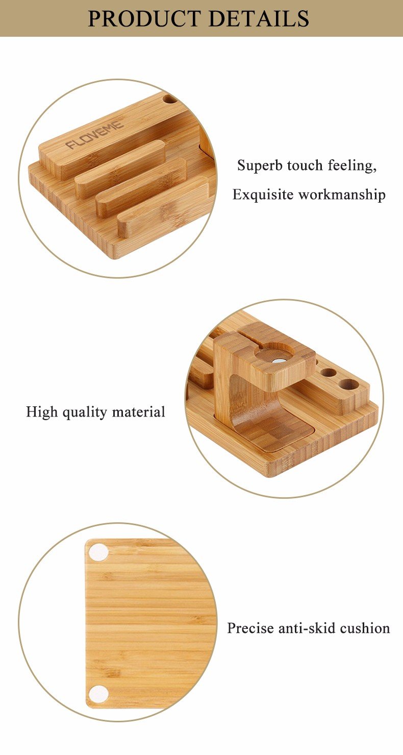 For iPhone Apple iWatch Wood Charge Holder (3)