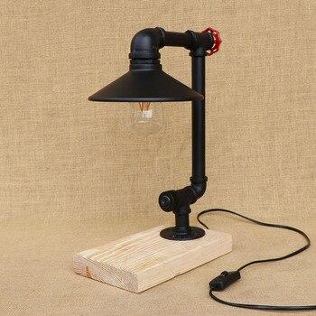 צינורות מים תעשייתי מנורת שולחן אמנות דקו Mesa לופט נורדי רטרו מנורת שולחן שולחן בר קפה אדיסון דקו המקורה אור תאורה