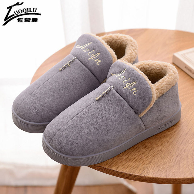 Winter Slippers Women Warm Home Shoes For Men Winter Shoes Indoor Slippers Women House Shoes Man Warm Flat Slippers For Ladies