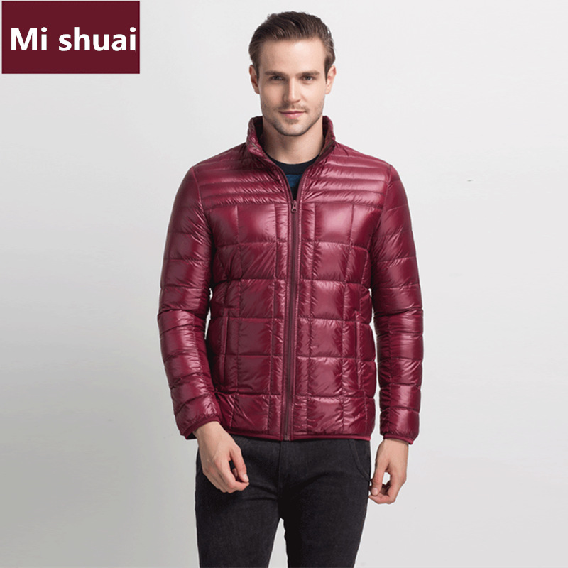 MI SHUAI 2016 erkek Chothing Kış Ceket Erkekler Ceket Giyim erkekler Yüksek Kalite Sıcak Beyaz Ördek Aşağı Ceketler Palto resmi iş