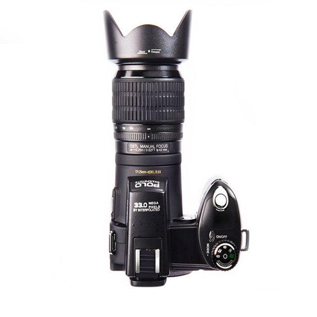 ELRVIKE Camera HD POLO D7200 Digital Camera 33Million Pixel Auto Focus Professional SLR Video Camera 24X Optical Zoom Three Lens Consumer Electronics