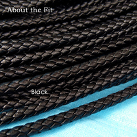 About the Fit 5mm 20 Meters Leather Cord Genuine Braided Leather Nappa Cow Leather Accessories For Jewelry Making Woven Rope
