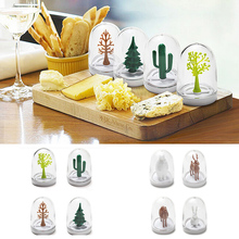 Creative Seasoning Bottle Kitchen Trees Animal Design Jars Can Home Cooking Spice Storage Rack Container 4Pcs/Set With Tray 3