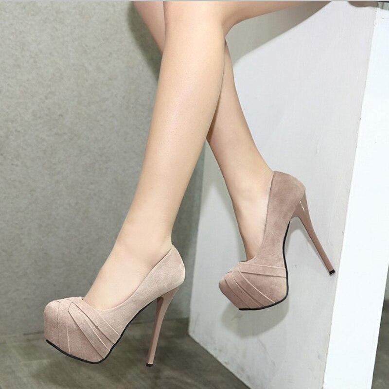 comprar plataforma tacones zapatos mujer bombas de novia beige