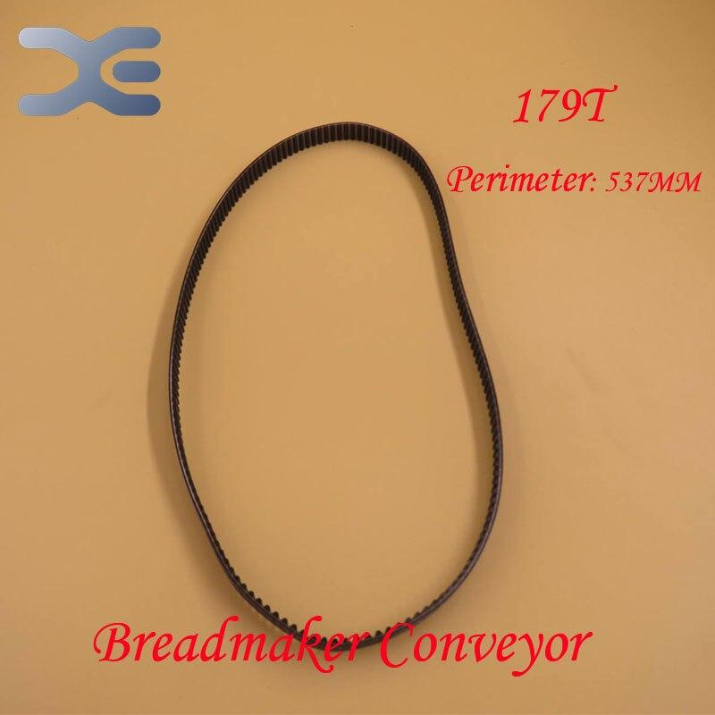 179T Perimeter 537mm Belt Breadmaker Conveyor Belts Bread Maker Machine Parts Bakery Strap Kitchen Appliance Accessories