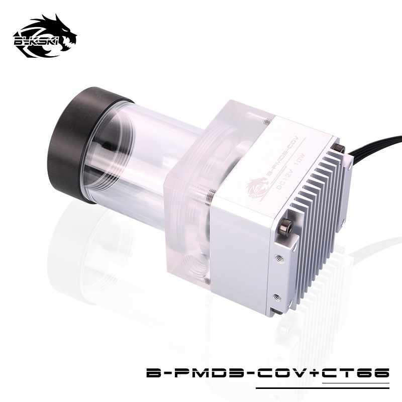Bomba combinada Bykski DDC + elevación de flujo máximo del depósito 6 metros 600L/H Compatible con la cubierta DDC radiador longitud del tanque de agua 116mm