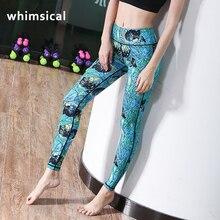 Whimsical New Sexy Women's Sports yoga Pants vibrant Graffiti leggings Quick-drying health excessive elastic waist tights