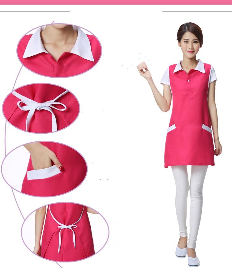 2019 schoonheidssalon schoonheidsspecialiste werkkleding schort Koreaanse versie mode nail serveerster mouwloze rok vrouwelijke supermarkt schort