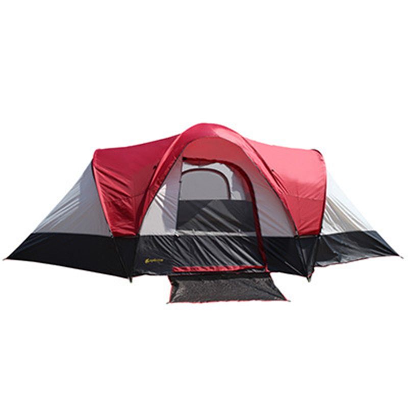 5-8 Person Outdoor 2 Rooms Naturehike Tent Waterproof Large Tourist Two Bedrooms Hiking Family Tente Camping Beach Tienda ZP35 high quality outdoor 2 person camping tent double layer aluminum rod ultralight tent with snow skirt oneroad windsnow 2 plus