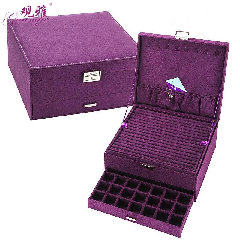 Королева стиль 4 цвета Роскошный практичный фланелевый ювелирный ящик Модный Ювелирный дисплей серьги ожерелье кулон Нобелевская Ювелирна...