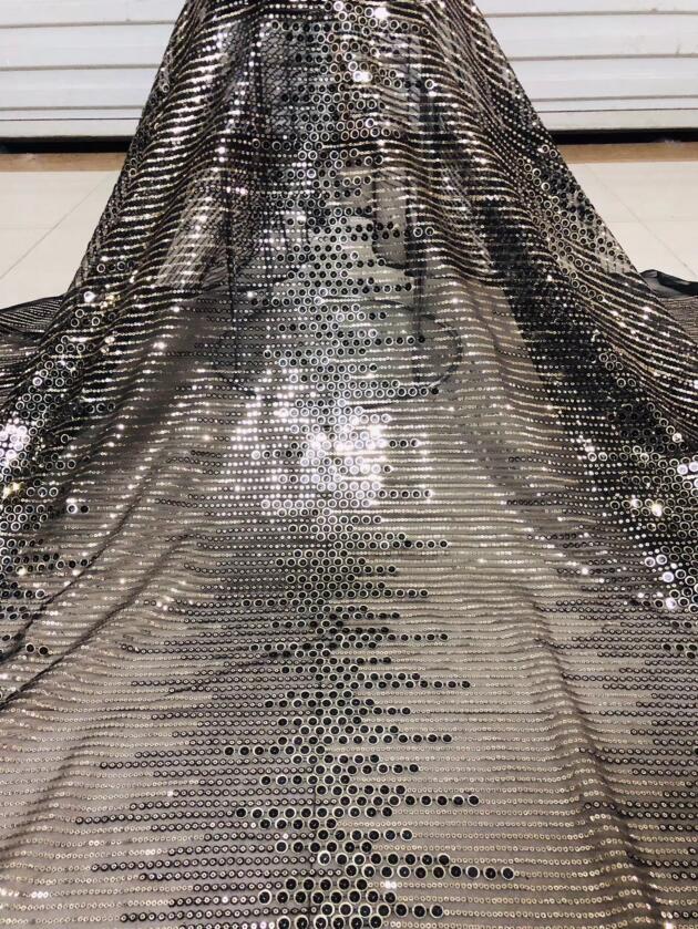 Nizza cercando della piuma del ricamo di tulle tessuto di pizzo di maglia David 12.2516 con buona qualità per il vestito da partito-in Pizzo da Casa e giardino su  Gruppo 1