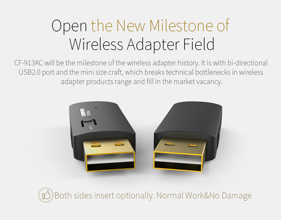 COMFAST Wireless WiFi antenna 600mbps 2.4GHz 5GHz Network Card 802.11b/n/g/ac Wi fi Adapter Mini PC WiFi adapter CF-913AC