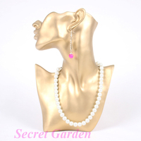 Wholesale High Quality Gold Resin Necklace Earring Jewellery Set Display Stand Holder Bust