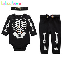 3Piece 0 18Months Spring Autumn Baby Boys Girls Clothes Sets Infant Rompers Cartoon Bodysuits Pants Hat