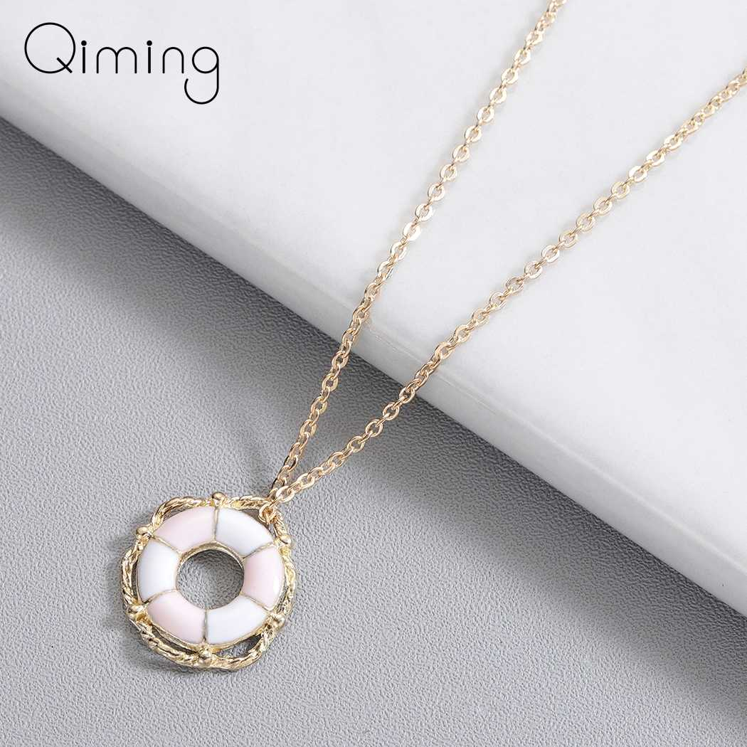 Gold Statement Necklace Women Brand Jewelry Circle Round Geometric Fashion Jewelry Accessories Beautiful Necklaces