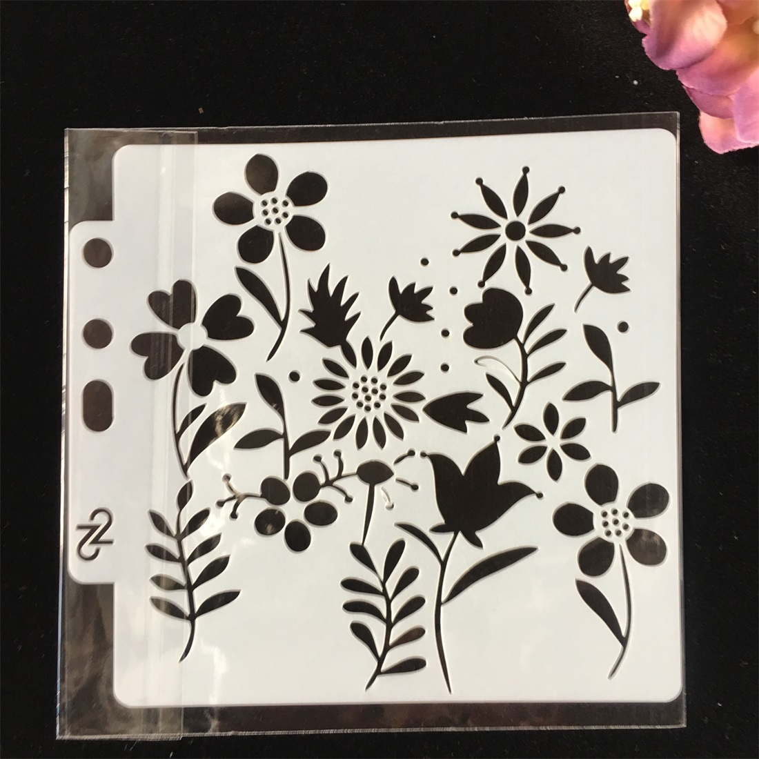 1Pcs Flower Plum DIY Layering Stencils Wall Painting Scrapbook Coloring Embossing Album Decorative Paper Card Template