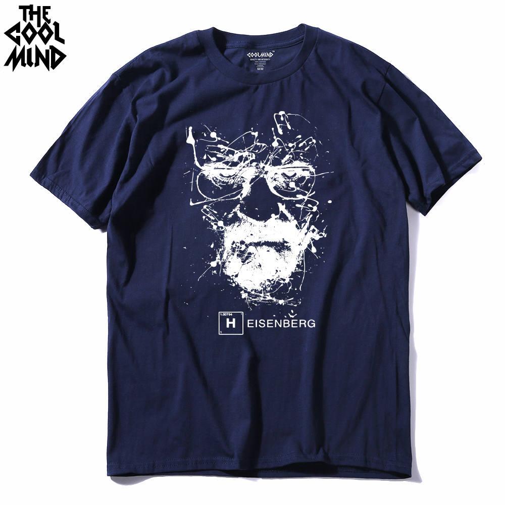 b4956f50adab8 Camiseta de algodón de alta calidad de heisenberg divertida para hombre  Camiseta casual de manga corta breaking bad print para hombre Camiseta de  moda cool ...