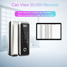 APP Fingerprint Glass Door Lock Electronic Door Lock Smart Door Locks Fingerprint Password Card For Home Office Anti-theft