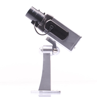 High Simulation Fake Dummy Security CCTV Bullet Camera Night Vision Have Motion Sensor Rotating And Sounding