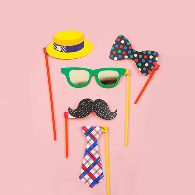 Photo Booth Props Photography Mask Paper Card Weddingbirthday