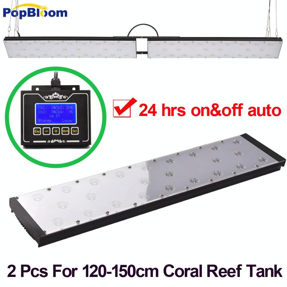 PopBloom Marine Aquarium LED Éclairage Corail Chihiros LED Meilleure couverture pour 120 cm réservoir de poissons récif élèvent la lumière acuario-marin MM6BP2