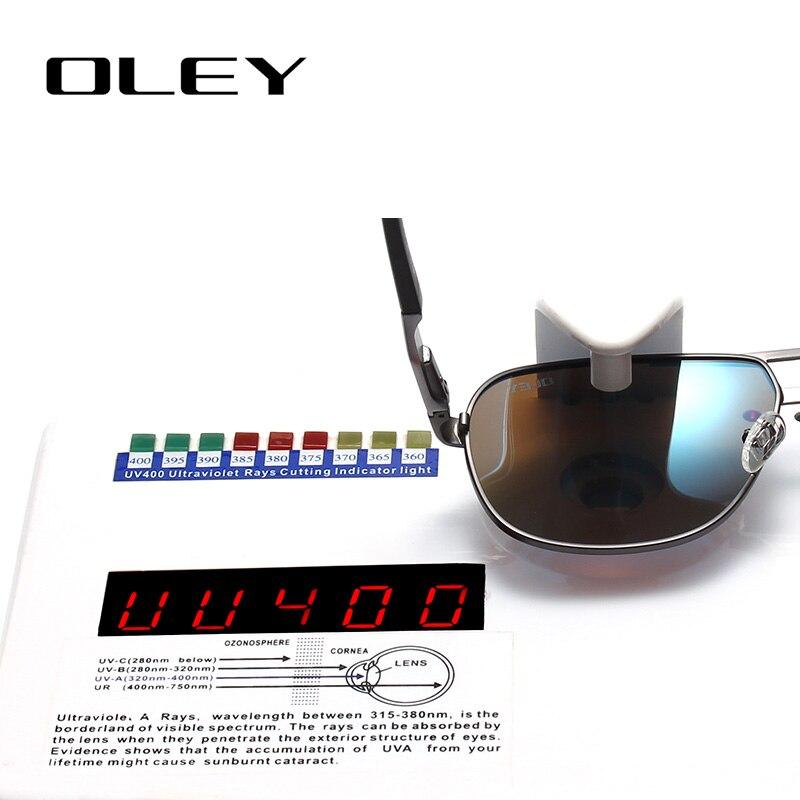1d81c77d5a OLEY Brand Men Aluminum Pilot Sunglasses Polarized HD Color Film Outdoor  UV400 Goggles Women For Men Oculos de sol Y9746
