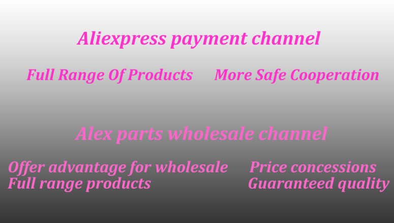 aliexpress payment channel alex parts wholesale channel wider range of products more safe cooperation price concessions