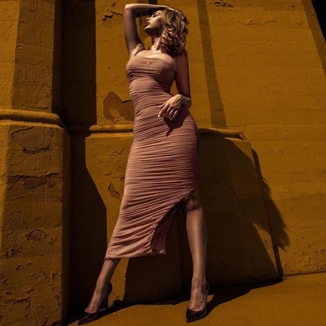 Elegant Bodycon Maxi Dress  2