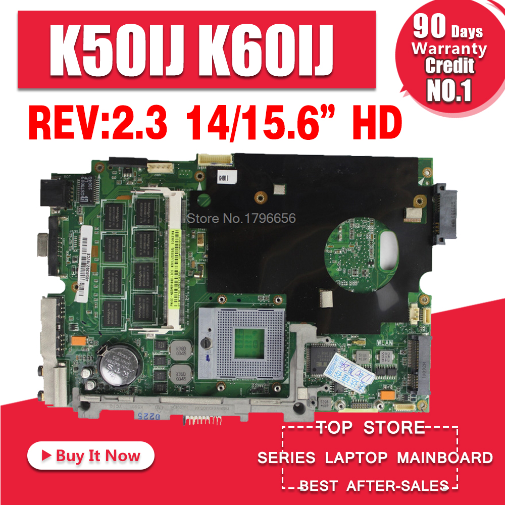 Placa base K50IJ rev: 2.1 / 2.3 para ASUS X5DIJ, K60IJ, K40IJ, X8AIJ - Componentes informáticos