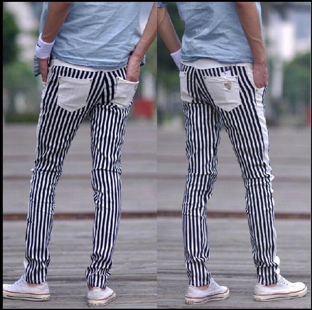 HOT 2017 New black and white Zebra stripe trousers elastic slim Matt kill non mainstream casual
