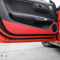2x set Car Styling Carbon Fiber Door Anti Kick Sticker Protective Trim Cover For Ford For Mustang For Ford Mustang 2015+