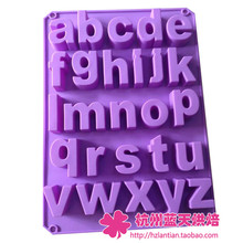 Wholesale/retail,free shipping,Lower case letters /alphabet silica gel cake mold  chocolate mould 34*22.2*2.5CM