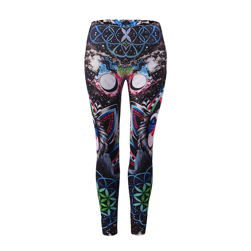 New Fashion Trousers Tight Star-Shaped Sky Pattern Slim Pants Ladys Outer Wear Print 3D Skinny Full Length Cool Women Girls