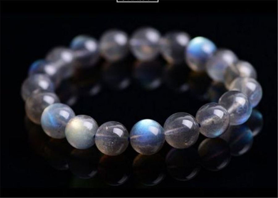 11mm Natural Labradorite Rainbow Light Gems Stone Crystal Round Bead Stretch Bracelet11mm Natural Labradorite Rainbow Light Gems Stone Crystal Round Bead Stretch Bracelet
