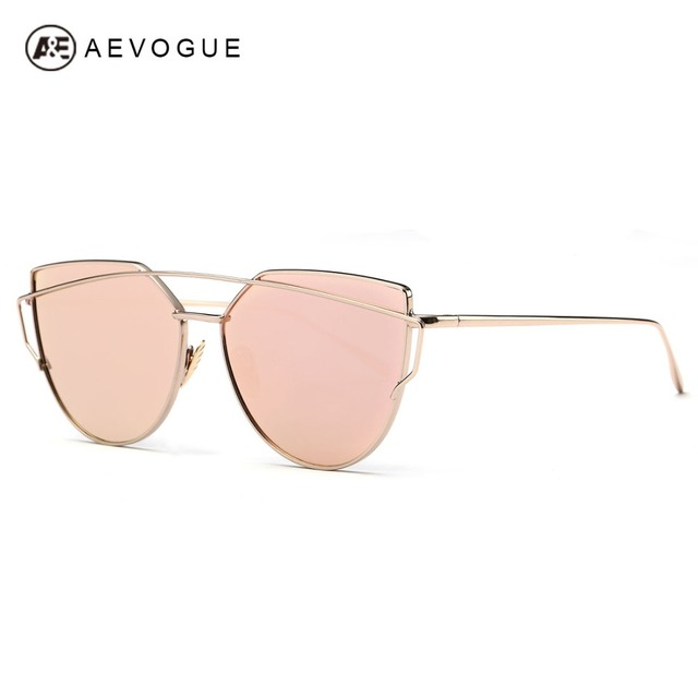 15e0fab6b3ea AEVOGUE Sunglasses Women 2016 Newest Metal Nose Pad Cat Eye Sun Glasses  Brand Designer Green Plating UV400 AE0342