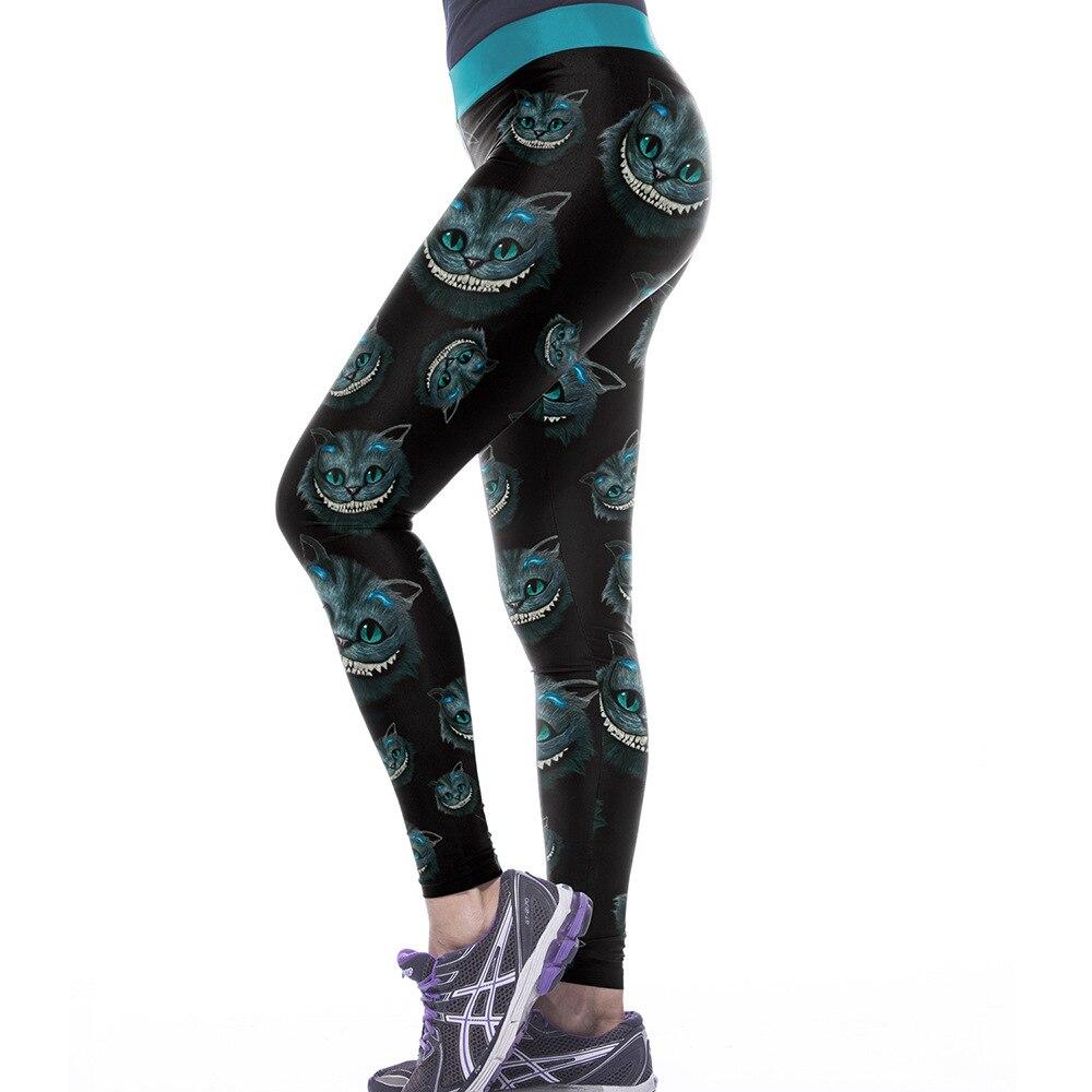 UK CHESHIRE CAT LEGGINGS Yoga Gift Idea Loungewear Fitness Alice in Wonderland