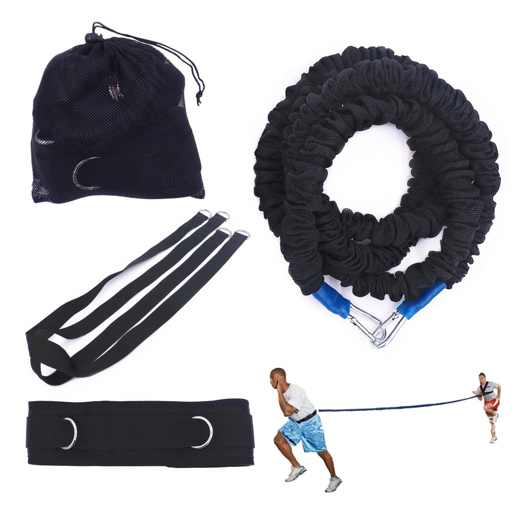 Resistance Bungee Band With Adjustable Neoprene Belt For Running Training Workout Speed Agility Strength Basketball And Football