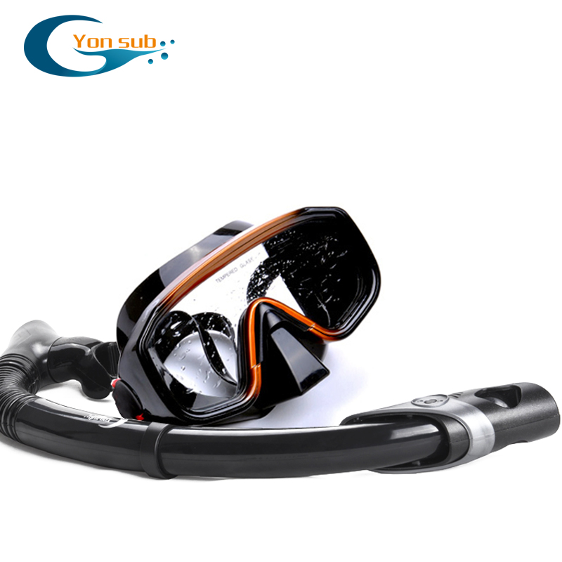 YONSUB Silicone Scuba Dive Mask Snorkel Set For Swimming Diving Underwater Snorkelling Free Shipping YM138+YS03 Diving Equopment