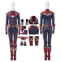 2019 Captain Marvel Costume Halloween Costume For Women Captain Marvel Jumpsuit Cosplay Captain Marvel Suit Custom Made