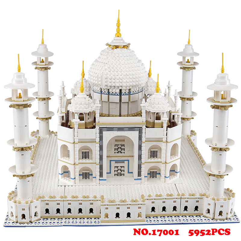 LEPIN 17001 City street view 5952pcs The taj mahal Model 10189 Building Kits Brick Spell educational toys  for children gifts lepin17001 city street tai mahal model building blocks kids brick toys children christmas gift compatible 10189 educational toys