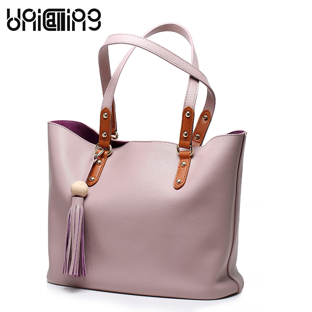 New style women bag European and American Style Tassel shopping bag Top grade genuine leather shoulder bags  creative new brand women retro genuine leather shoulder bag european and american style woman bag postman package with rivets
